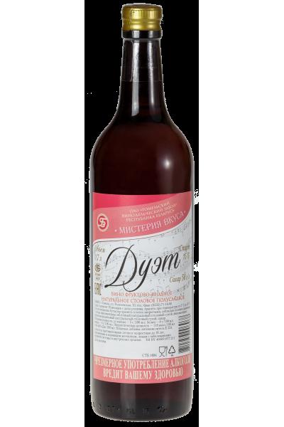 Вино фруктово-ягодное натуральное столовое полусладкое «Мистерия вкуса. Дуэт» 0.7л