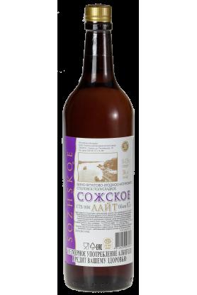 Вино фруктово-ягодное натуральное столовое полусладкое «Сожское Лайт» 0.7л