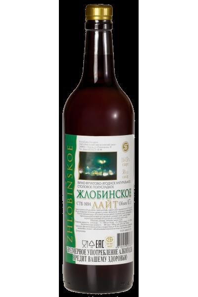 Вино фруктово-ягодное натуральное столовое полусладкое «Жлобинское Лайт» 0.7л