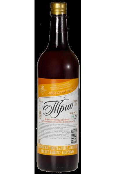 Вино фруктово-ягодное натуральное столовое полусладкое «Мистерия вкуса. Трио» 0.7л