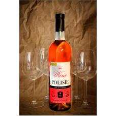 «POLISIE розовое» Вино фруктово-ягодное натуральное