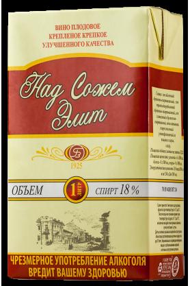 Вино плодовое крепленое крепкое улучшенного качества «Над Сожем. Элит» 1л