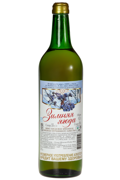 Вино плодовое крепленое крепкое улучшенного качества «Зимняя ягода» 0.7л