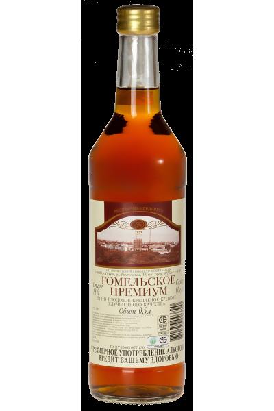 Вино плодовое крепленое крепкое улучшенного качества «Гомельское Премиум» 0.5л