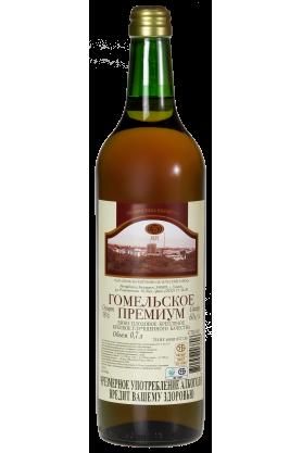 «ГОМЕЛЬСКОЕ ПРЕМИУМ» Вино плодовое крепленое крепкое улучшенного качества  0.7л